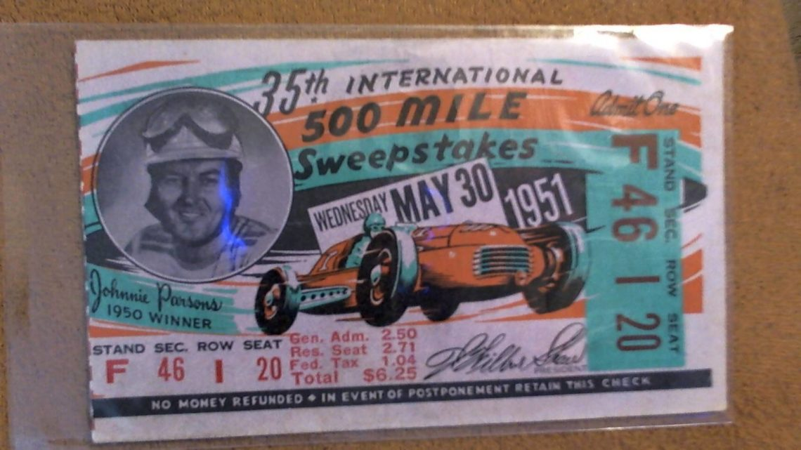 1951 Indianapolis 500 Ticket Stub