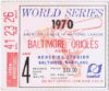 1970 World Series Game 4 ticket stub Reds at Orioles