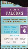 1971 NFL Falcons at Lions