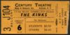 1973 Kinks concert ticket stub Buffalo