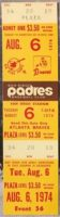 1974 MLB Braves at Padres 2 Aaron HRs