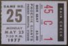 1977 Pacific Coast League Phoenix Giants ticket stub