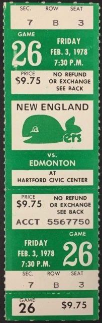 1978 WHA Oilers at Whalers