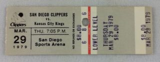 1979 NBA Kings at Clippers