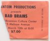 1982 Bad Brains Los Angeles ticket stub