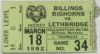 1982 WHL Medicine Hat Tigers at Billings Bighorns