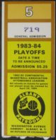 1984 CBA Playoffs Albany Patroons Ticket Stub