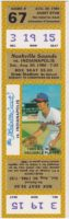 1986 Nashville Sounds ticket stub vs Indianapolis Indians