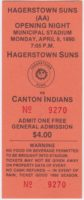 1990 Eastern League Canton Indians at Hagerstown Suns