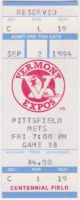 1994 New York – Penn League Pittsfield Mets at Vermont Expos