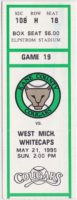 1995 Midwest League West Michigan Whitecaps at Kane County Cougars