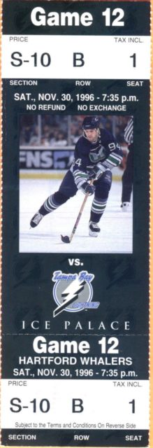 1996 NHL Whalers at Lightning