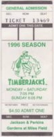 1996 Southern Oregon Timberjacks season ticket