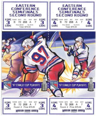 1997 NHL Playoffs Round 2 New Jersey Devils at New York Rangers