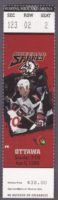 1998 NHL Ottawa Senators at Buffalo Sabres Ticket Stub