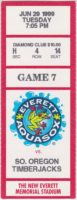 1999 Everett Aquasox ticket stub vs Timberjacks