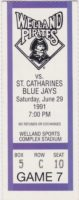 1991 MiLB St. Catharines Blue Jays at Welland Pirates