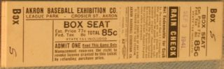 1941 Middle Atlantic League Akron Yankees ticket