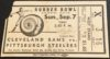 1941 NFL Cleveland Rams vs Pittsburgh Steelers