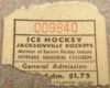 1969 EHL Johnstown Jets at Jacksonville Rockets ticket stub