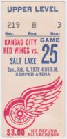 1979 Kansas City Red Wings ticket stub vs Salt Lake