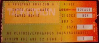 1983 David Bowie Chicago Rosemont Horizon