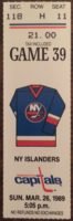 1989 NHL Islanders at Capitals