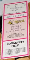 1995 Midwest League Peoria Chiefs at Burlington Bees