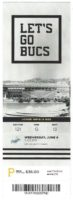 2018 MLB Dodgers at Pirates ticket stub