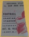 1953 NCAAF Arizona State at San Jose State