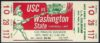 1969 NCAAF Washington State at USC ticket stub