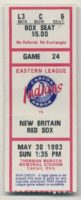 1993 Canton Akron Indians ticket stub vs New Britain Red Sox