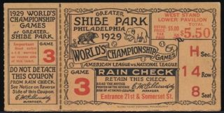 1929 World Series Game 3 Athletics vs Cubs