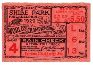 1929 World Series Game 4 Cubs at Athletics 118
