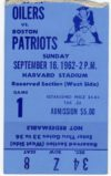 1962 AFL Oilers at Patriots