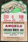 1966 MLB White Sox at Angels first game Anaheim Stadium