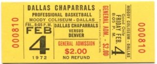 1972 ABA Nuggets at Chaparrals