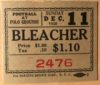 1938 NFL Championship Giants vs Packers ticket stub