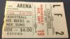 1969 Kareem Abdul Jabbar 1st NBA Game Ticket Stub