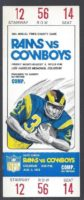 1973 NFL Los Angeles Rams ticket vs Dallas Cowboys