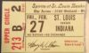 1976 ABA Spirits of St. Louis ticket stub vs Indiana Pacers