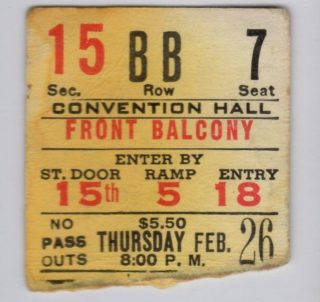 1976 Queen Ticket Stub St Louis with Bob Seger
