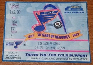 1996 Brett Hull 500th goal ticket stub