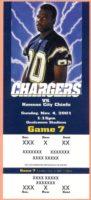 2001 Drew Brees Debut ticket stub NFL Chiefs at Chargers