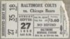 1953 Baltimore Colts ticket stub vs Chicago Bears