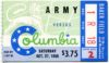 1956 NCAAF Columbia ticket stub vs Army