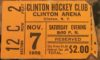 1959 EHL Clinton Comets Hockey Club Ticket Stub