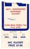 1970 NFC Divisional Game ticket stub Cowboys vs Lions