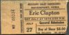 1974 Eric Clapton concert ticket stub from Davenport