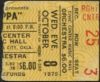1975 Frank Zappa and The Mothers concert ticket stub Oklahoma City